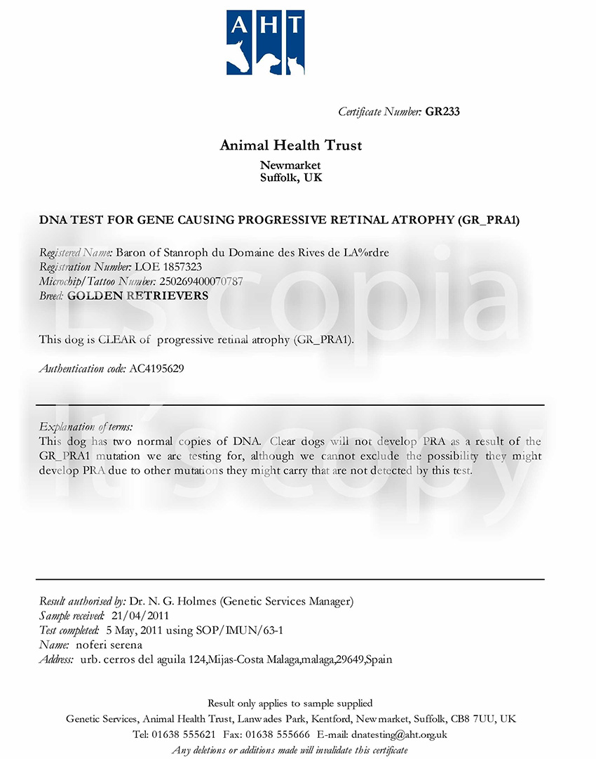Dog Disease Testing.xls